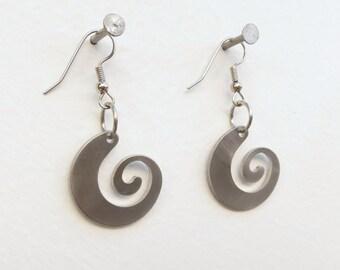 Wave Earrings by Marsh Scott, stainless steel