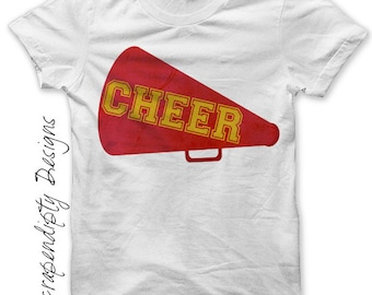 Cheer Megaphone Iron on Transfer - Iron on Cheerleading Shirt PDF / Girls Cheerleading Outfit / Girls Sports Clothes / Cheer Gifts IT221