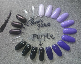 Violet 2 (Purple indigo tone) Liquid Tinter - high concentrate liquid pigments, nail polish colours,  Professional formulation, 5 Free