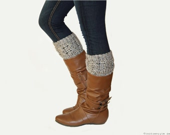 CROCHET PATTERN - Cabled Boot Cuffs - Instant Download (PDF)