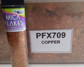 Natural Mica Flakes for Crafts COPPER by USArtQuest