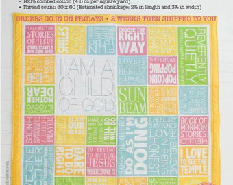 LDS Primary Song Sing • Along Quilt Panel (Multi Colors)