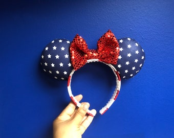 Memorial Day/ 4th of July Inspired Mouse Ears