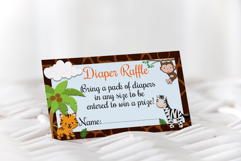 giraffe baby shower diaper raffle safari jungle baby shower