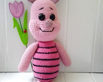 Piglet crochet amigurumi. Prosiaczek