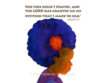 Adoption Art Print Samuel 1:27 8x10