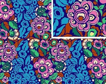 Amy Butler Fabric Trapeze in Ink from the Hapi Collection 1/2 Yard