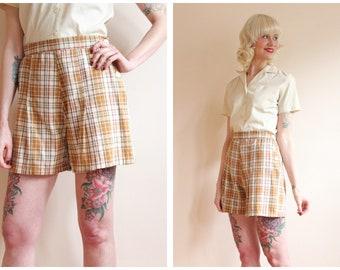 1930s Shorts // Cotton Plaid Summer Shorts // vintage 30s shorts