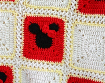 Crocheted Minnie Mouse Blanket