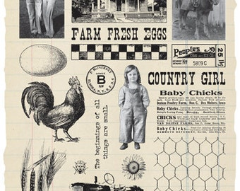 Farm Girl Rubber Stamp Collection