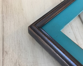 """Vintage Color of Your Choice in Wide Black Build Up Style - Choose your medium frame size: 8x8, 7x9, 8x10, 9x9, 8x12, 8.5x11, A4 8.3x11.7"""""""