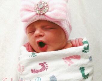 NEWBORN GIRL, baby girl, newborn hospital hat, newborn hat, newborn hats