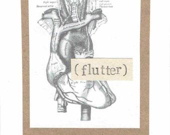 Anatomisches Herz flattern Karte zum Valentinstag | Lustige medizinischen Wissenschaft Nerdy Anatomie gotischen Humor Kuriositäten Arzt Krankenschwester Männer Frauen
