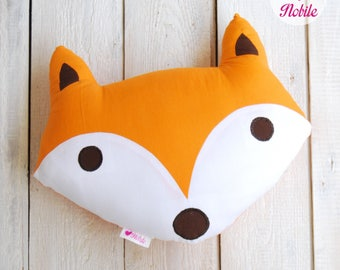 Fox pillow, fox cushion, woodland pillow, fox nursery, decorative pillow, fox decor, nursery pillow, animal pillow, kids pillow, fox gift