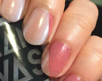 BOO-urns by CANVAS lacquer - a sheer to pink solar active polish