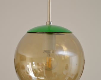 Mid-Century Modern Candied Lime Pendant, Colorful Lighting, Handmade Lighting, Modern Lighting