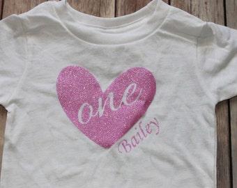 Toddler Birthday Shirt, Heart Birthday Shirt, Birthday Shirt, First Birthday Shirt