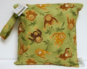 Small Wet Bag - Wet Bag - 11 X 11 - Monkeys