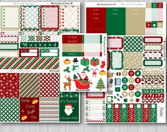 A Merry Little Christmas Vertical Weekly Planner Kit