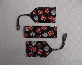 New Price  - Dice Luggage Tag and Handle Wrap Set