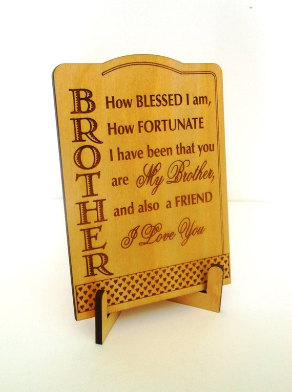 Gift for brother big brother appreciation wooden plaque gifts negle Image collections