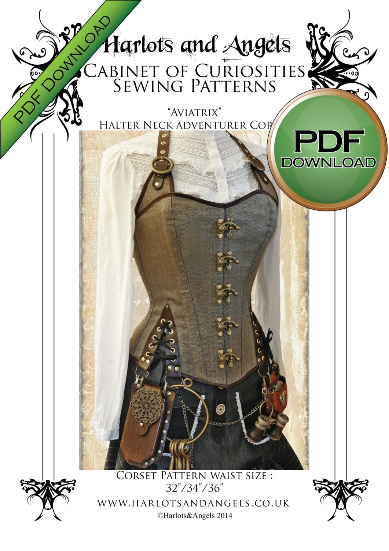 Unique corset sewing pattern pdf steampunk corset home print zoom jeuxipadfo Gallery