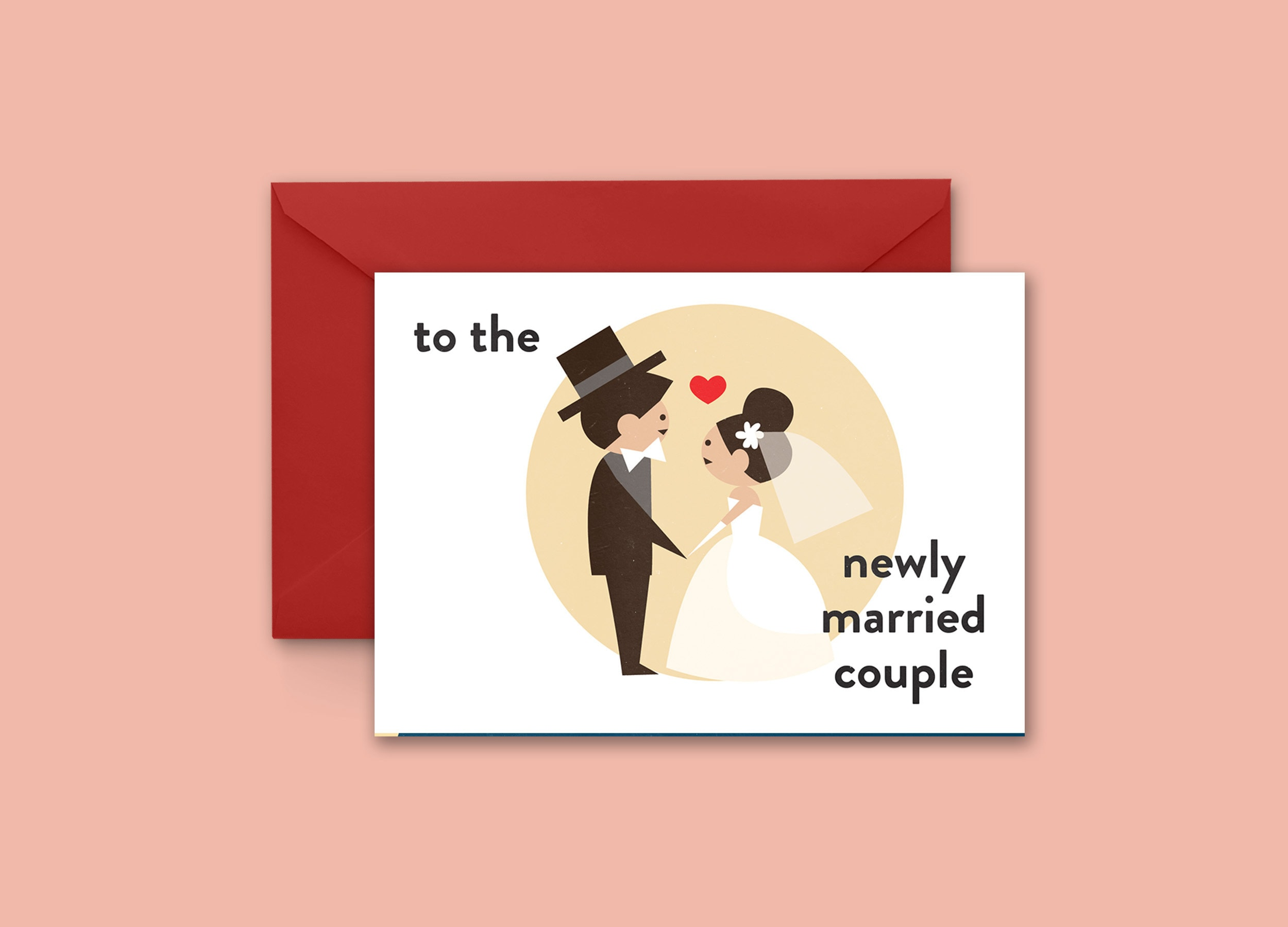 To The Newly Married Couple Greeting Card
