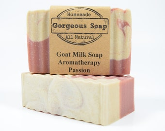 Aromatherapy: Passion Goat Milk Soap - All Natural Soap, Handmade Soap, Homemade Soap, Handcrafted Soap, Aromatherapy Soap, Passion Soap