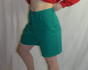 Vintage Womens Northern Reflections Green Denim Shorts