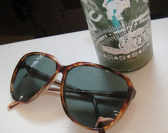 Vintage Sunglasses Funky Sunglasses vintage sunglasses retro tortoise brown 80s sunglasses