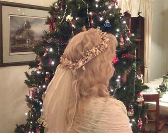 Seashell Wedding Headpiece
