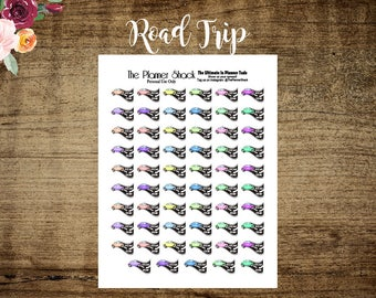 Road Trip Printable Planner Stickers // Printable Planner Stickers // Road Trip // Vacation // Planner Printables
