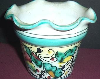 Vintage small pottery vase, Italy