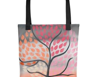 Pink Whimsical Tree of Life Tote bag