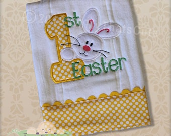 1st Easter Burp Cloth, Baby Shower Gift, Personalized Monogrammed Burp Cloth