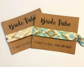 Bachelorette Favor, Hair Tie Favor, Bachelorette Party Favor, Elastic Hair Tie, Bridesmaid Favor, Bride Tribe, You Choose Color!