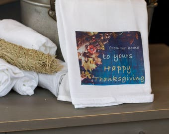 Thanksgiving Kitchen Towel Personalized, Thanksgiving Table Decor, Thanksgiving Decorations, Thanksgiving Decor, Thanksgiving Hostess Gift