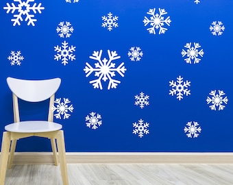Snowflake Decal Sticker Variety Pack - Winter Holiday Decor (510-17)