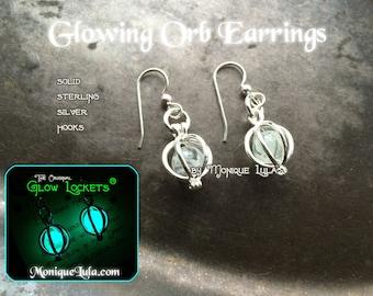 Glow in the Dark Orb Earrings by Monique Lula