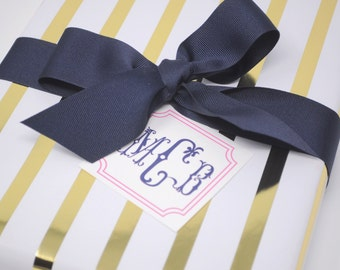 Monogrammed/Personalized Enclosure Cards qty 24