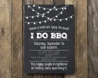 I Do BBQ Invitation - Printable Invitation - I Do BBQ Engagement Party - I Do BBQ