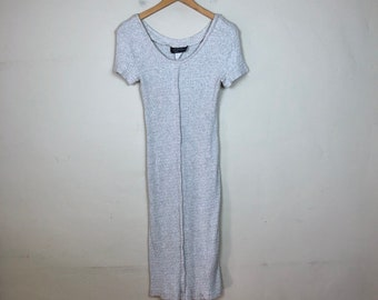 90s Cotton Maxi Dress Size M, Heather Grey Maxi Dress, Comfy Maxi Dress