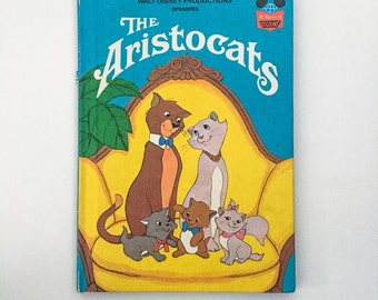 Original Disney Wonderful World of Reading / The Aristocats /1973 / Vintage / Rare and Collectable.