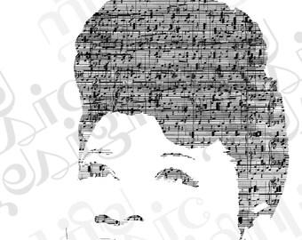 Ella Fitzgerald Music Print
