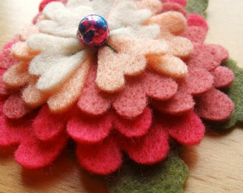 SALE\/Blithe and Blush. Your choice of a hair pin or brooch.