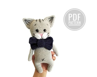 Amigurumi Kitten Patterns : Pattern kaylie the kitten crochet cat pattern amigurumi