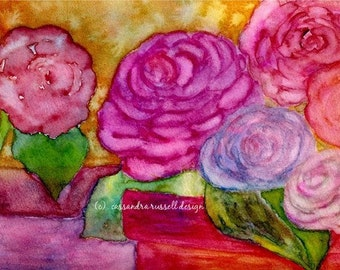 ROSE  DORE  -  Mixed Media Artwork Print