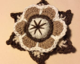 Freeform Flower with Leaves - Pattern Only (PDF Download)