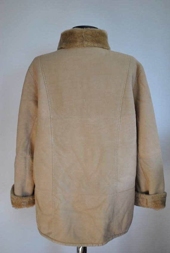 lambskin shearling jacket 450 winter coat Vintage short LAMBSKIN coat WOMEN'S 6nwpxzIT