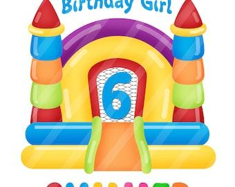 Bounce House Birthday Digital .jpeg files Printables for iron-ons, heat transfer, Scrapbooking,  DIY YOU PRINT
